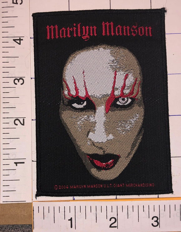 MARILYN MANSON AMERICAN SINGER ARTIST ALTERNATIVE METAL MUSIC CONCERT PATCH