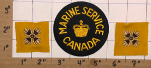 3 VINTAGE ROYAL MARINE SERVICE CANADA CANADIAN NAVY CREST PATCH LOT