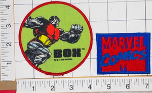 2 RARE 1985 ALPHA FLIGHT BOX SUPER HERO MARVEL COMICS EMBLEM CREST PATCH LOT