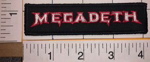 MEGADETH AMERICAN HEAVY METAL THRASH METAL LA RED CONCERT MUSIC CREST PATCH