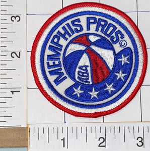 "1 MEMPHIS PROS NBA ABA BASKETBALL  3"" CREST EMBROIDERED PATCH"
