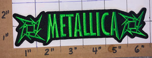 METALLICA AMERICAN HEAVY METAL GREEN CONCERT MUSIC PATCH CRETS BADGE