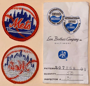 "1 VINTAGE NEW YORK METS MLB BASEBALL 2"" EMBROIDERED CREST PATCH"