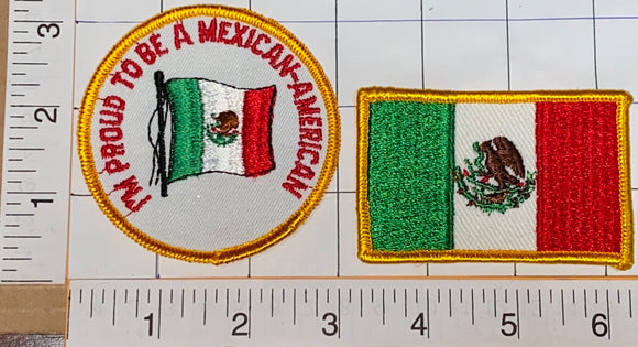 I'M PROUD TO BE MEXICAN AMERICAN FLAG EMBLEM CREST PATCH LOT