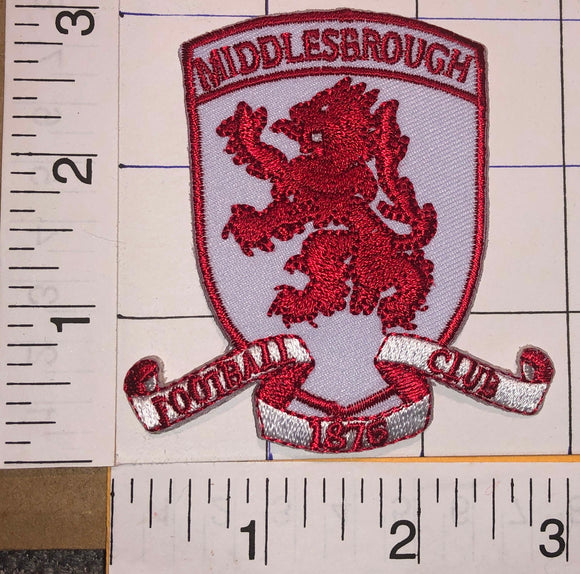MIDDLESBROUGH F.C. 1876 ENGLISH FOOTBALL CLUB PREMIER LEAGUE CREST PATCH