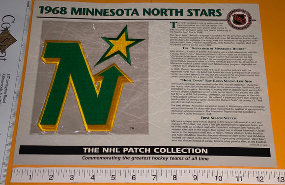 1 OFFICIAL 1968 MINNESOTA NORTH STARS NHL HOCKEY WILLABEE & WARD PATCH MIP