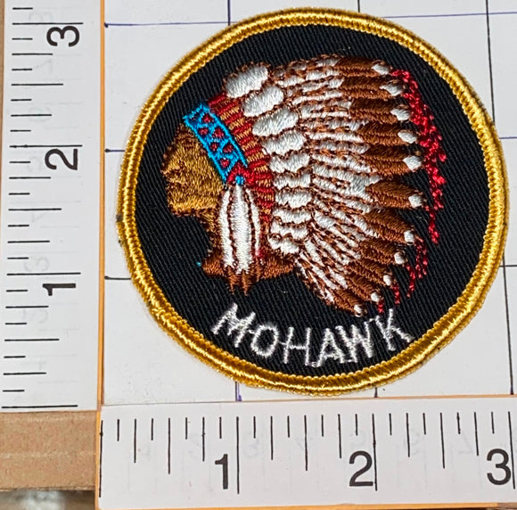 1970's VINTAGE NATIVE INDIAN MOHAWK WARRIOR CREST PATCH