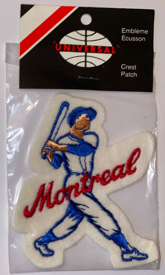1 VINTAGE MONTREAL EXPOS MLB BASEBALL PLAYER CREST PATCH MINT IN PACKAGE