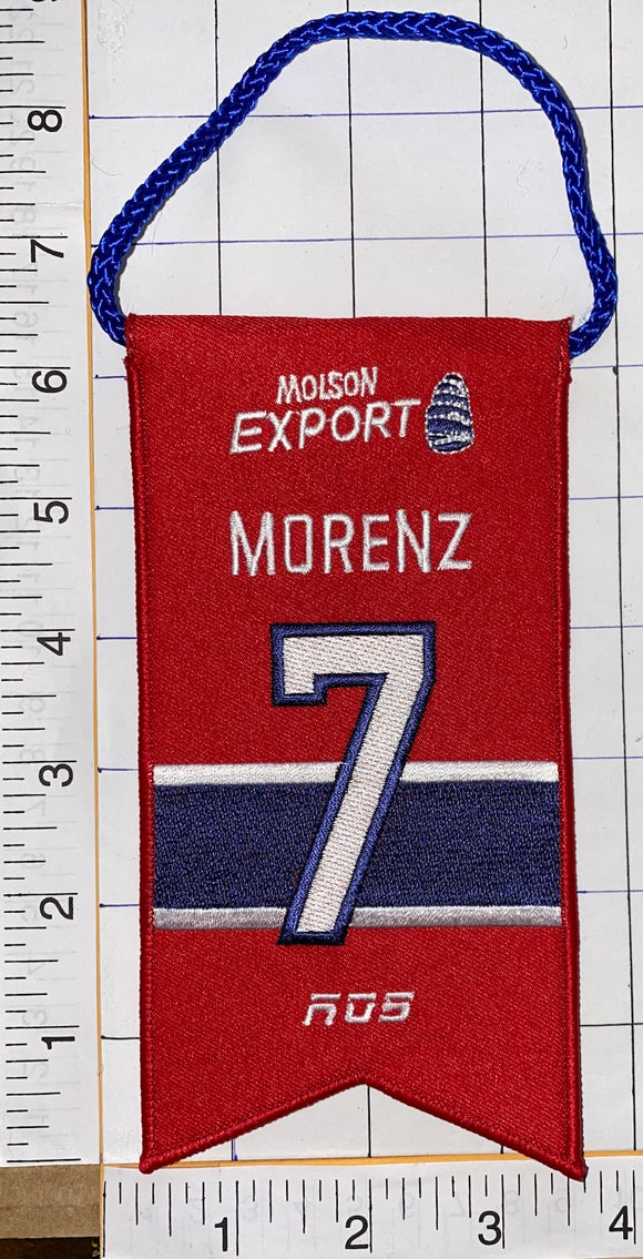HOWIE MORENZ MONTREAL CANADIENS #7 RETIREMENT BANNER NHL HOCKEY RDS MOLSON
