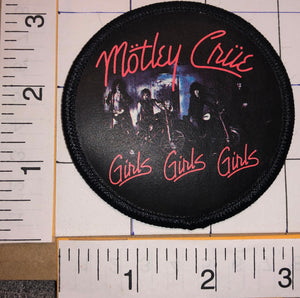 MOTLEY CRUE GIRLS GIRLS GIRLS AMERICAN HARD ROCK MUSIC CONCERT ALBUM PATCH