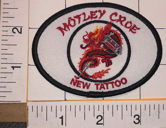 MOTLEY CRUE NEW TATTOO HEAVY METAL CONCERT MUSIC PATCH NIKKI SIXX TOMMY LEE MARS