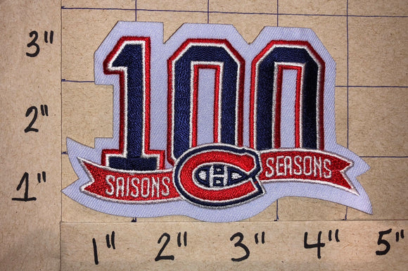 MONTREAL CANADIENS 100TH ANNIVERSARY 1909-2009 NHL HOCKEY CREST PATCH