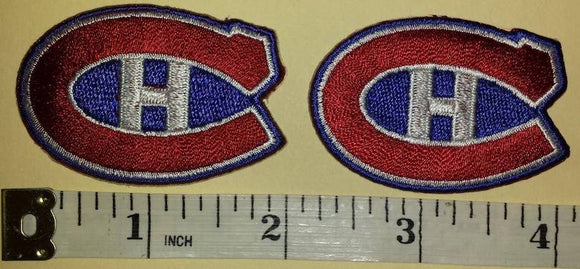 2 MONTREAL CANADIENS 2 inch CREST NHL HOCKEY CREST PATCH LOT