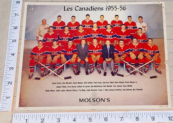 1 RARE VINTAGE 1955-56 MONTREAL CANADIENS STANLEY CUP CHAMPIONS TEAM PICTURE