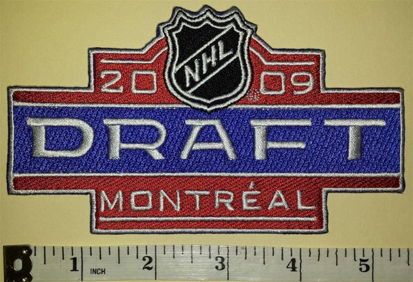2009 MONTREAL CANADIENS DRAFT NHL HOCKEY CREST BADGE PATCH