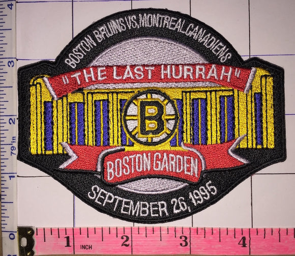 BOSTON GARDEN MONTREAL CANADIENS vs BOSTON BRUINS THE LAST HURRAY NHL PATCH