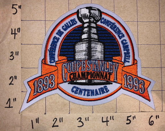 1993 MONTREAL CANADIENS STANLEY CUP CHAMPIONS FRENCH NHL HOCKEY CREST PATCH