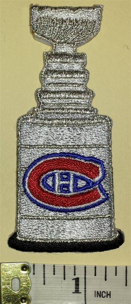 MONTREAL CANADIENS SILVER STANLEY CUP NHL HOCKEY CREST BADGE PATCH