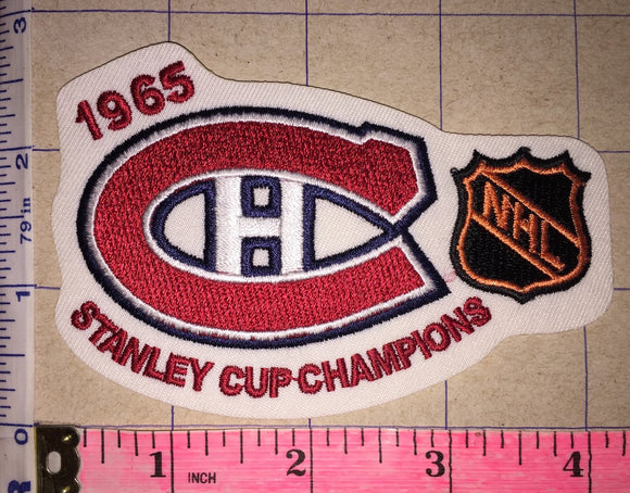 1965 MONTREAL CANADIENS STANLEY CUP CHAMPIONS NHL HOCKEY CREST BADGE PATCH