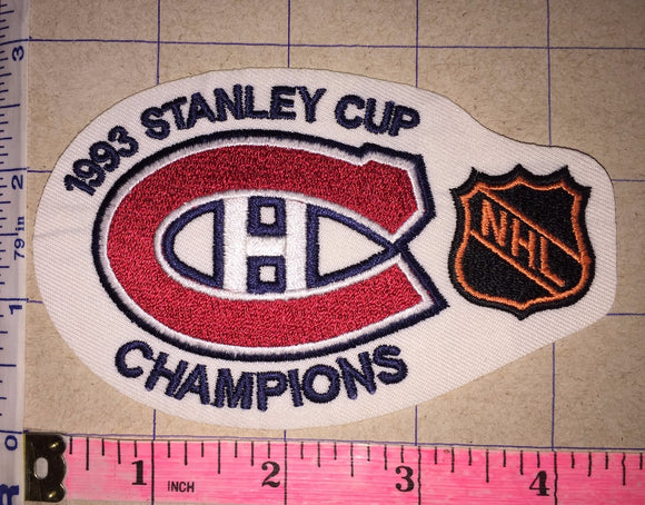 1993 MONTREAL CANADIENS STANLEY CUP CHAMPIONS NHL HOCKEY CREST BADGE PATCH