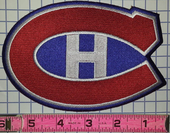 1 MONTREAL CANADIENS 6 INCH NHL HOCKEY CREST BADGE PATCH