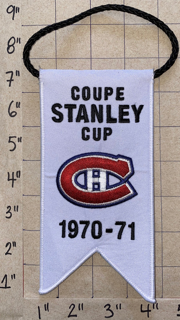 MONTREAL CANADIENS 1970-71 STANLEY CUP CHAMPIONS BANNER BELIVEAU DRYDEN NHL HOCKEY