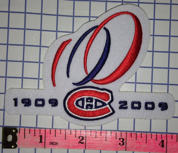 MONTREAL CANADIENS 100TH ANNIVERSARY CENTENNIAL 1909-2009 NHL HOCKEY CREST PATCH