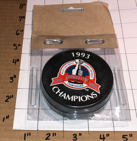 1993 STANLEY CUP CHAMPIONS OFFICIAL MONTREAL CANADIENS NHL HOCKEY PUCK MIP