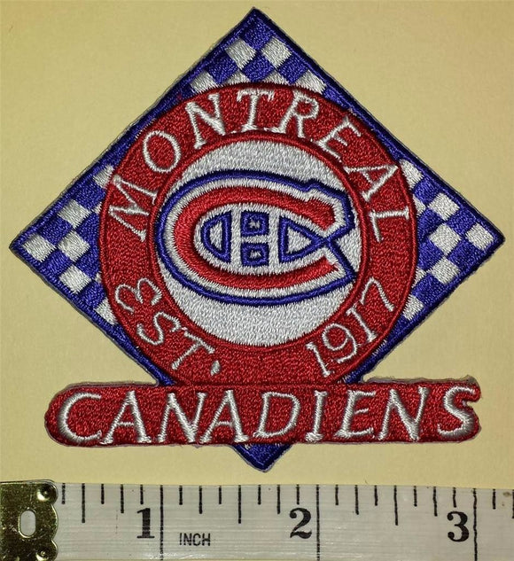 MONTREAL CANADIENS 1917 EST NHL HOCKEY BADGE CREST PATCH