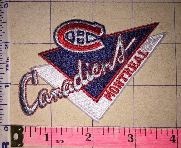MONTREAL CANADIENS V SHAPED NHL HOCKEY BADGE CREST PATCH