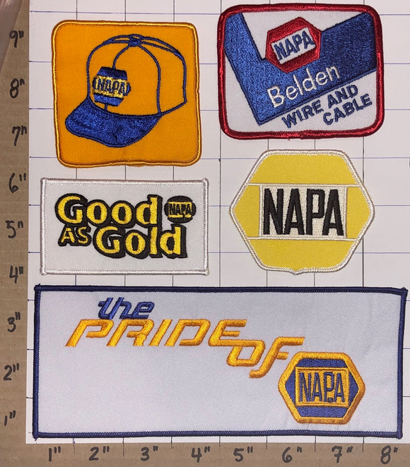 5 NAPA AUTO PARTS RACING NASCAR NHRA HAT JACKET MICHAEL WALTRIP CREST PATCH LOT