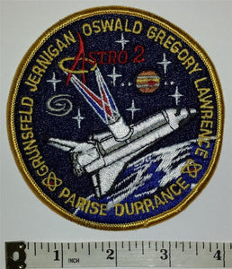 VINTAGE ASTRO 2 SPACE SHUTTLE STS-67 MISSION NASA OSWALD GREGORY PATCH