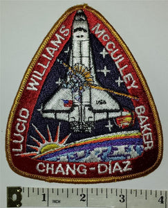 VINTAGE NASA ATLANTIS STS-34 Lucid Williams McCulley Baker Chang-Diaz Patch