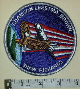 Vintage NASA Mission COLUMBIA STS-28  Adamson Leestma Brown Shaw Richards PATCH