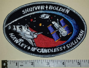 1990 NASA MISSION SPACE SHUTTLE DISCOVERY STS-31 Shriver, Bolden, Hawley PATCH