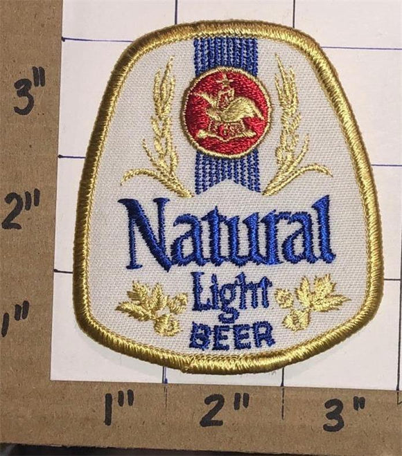 1 VINTAGE NATURAL LIGHT BEER BREWERY ANHEUSER-BUSCH CREST EMBLEM PATCH