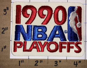 "1 VINTAGE 1990 NBA BASKETBALL  PLAYOFFS 4"" DETROIT PISTONS CHAMPIONS NBA PATCH"