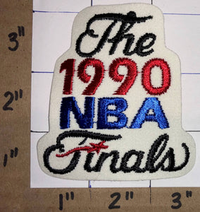 1 RARE1990 NBA FINALS DETROIT PISTONS PORTLAND TRAIL BLAZERS PATCH LO