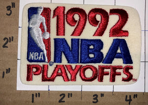 "1 VINTAGE 1992 NBA BASKETBALL  PLAYOFFS 4"" CHICAGO BULLS CHAMPIONS NBA PATCH"