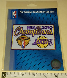 1 OFFICIAL LOS ANGELES LAKERS 2010 NBA BASKETBALL CHAMPIONS CREST PATCH MIP