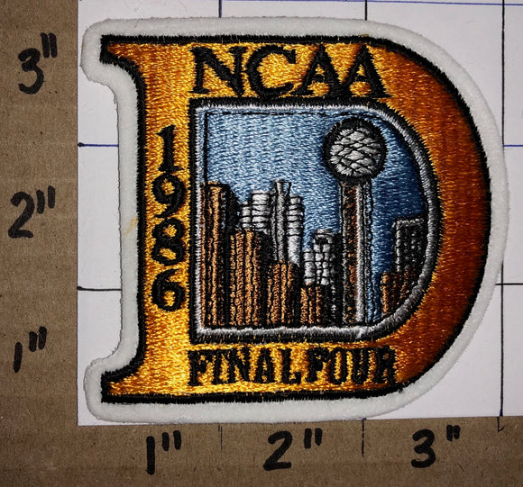 1986 NCAA FINAL FOUR BASKETBALL CHAMPION LOUISVILLE CARDINALS CREST EMBLEM PATCH