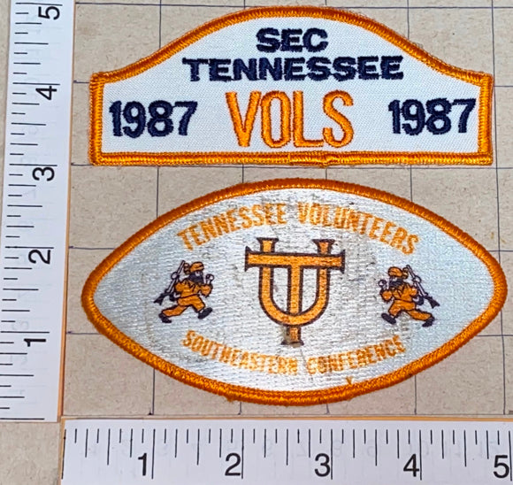1987 TENNESSEE VOLUNTEERS VOLS NCAA FOOTBALL BASKETBALL UNIVERSITY PATCH