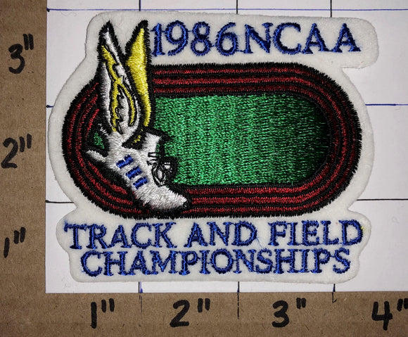 1986 NCAA TRACK AND FIELD CHAMPIONSHIPS CREST EMBLEM PATCH