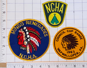 1963 VINTAGE N.C.H.A NCHA  WAPWALLOPEN COUNCIL CUP RANGE INDIAN CHIEF PATCH LOT
