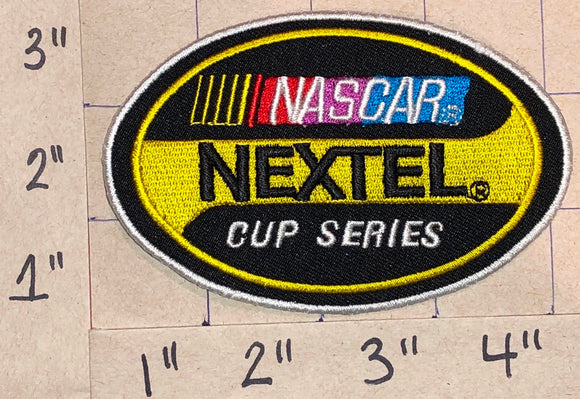 1 NASCAR NEXTEL CUP RACING WHITE CREST EMBLEM PATCH
