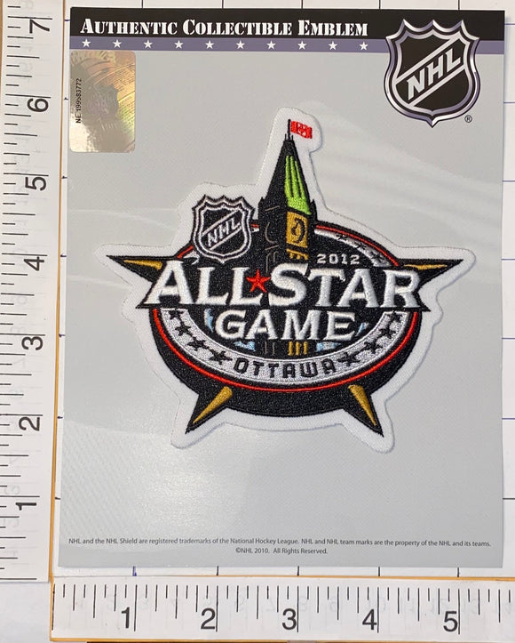 OFFICIAL 2012 NHL HOCKEY ALL STAR GAME OTTAWA SENATORS EMBELM PATCH MIP