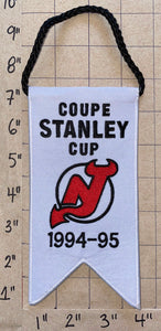 NEW JERSEY DEVILS 1994-95 STANLEY CUP CHAMPIONS BANNER NHL HOCKEY