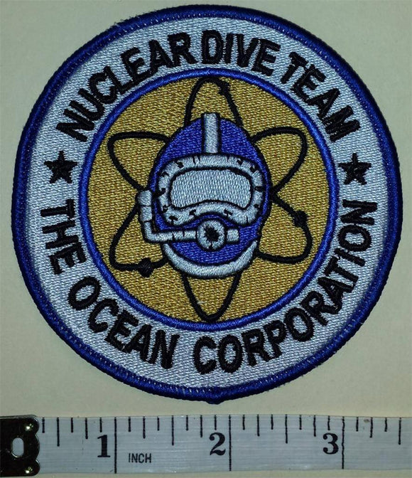 THE ECEAN CORPORATION NUCLEAR DIVE TEAM DIVER DIVING SNORKLING CREST PATCH