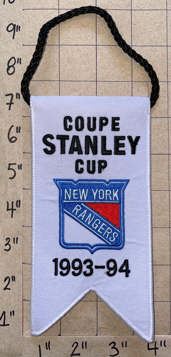 NEW YORK RANGERS 1993-94 STANLEY CUP CHAMPIONS BANNER NHL HOCKEY