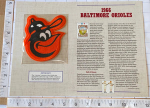 1966 BALTIMORE ORIOLES MLB BASEBALL WILLABEE & WARD COOPERSTOWN PATCH